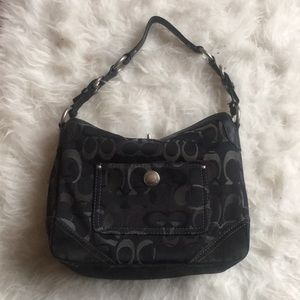 Coach Chelsea Optic Art turnlock black bag